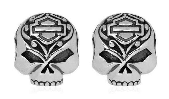 Harley-Davidson Women's Mini Filigree Skull Post Earrings HDE0314 - Wisconsin Harley-Davidson