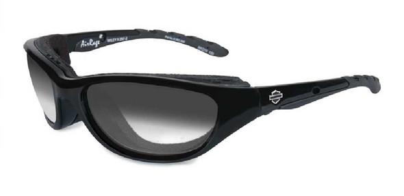 Harley-Davidson Airrage LA Grey Lens Sunglasses, Gloss Black Frame HD696 - Wisconsin Harley-Davidson