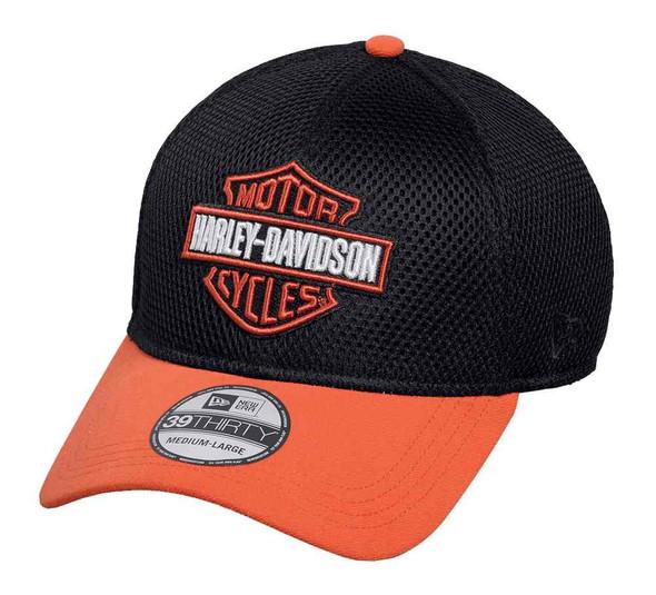 Harley-Davidson Men's Colorblocked B&S 39THIRTY Baseball Cap, Black 99447-16VM - Wisconsin Harley-Davidson