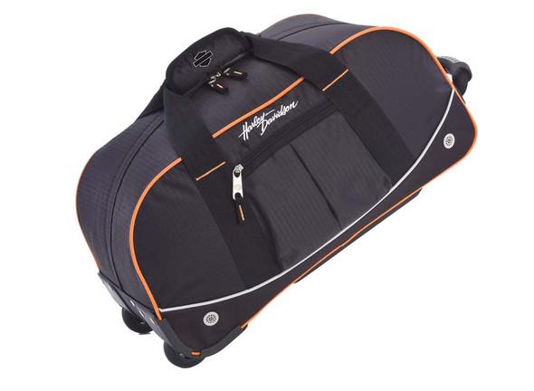 Harley-Davidson 35'' Wheeling Packaged Duffel, Black/Orange 99613 - Wisconsin Harley-Davidson