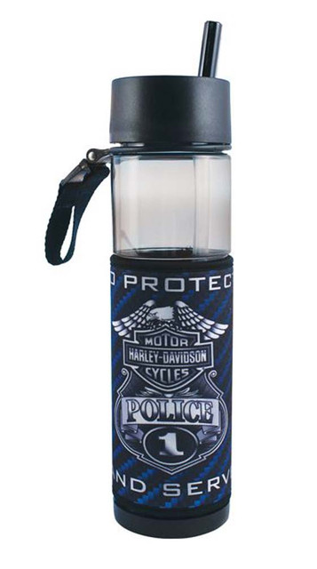 Harley-Davidson Police Original Slim Sports Plastic Water Bottle SL126389 - Wisconsin Harley-Davidson