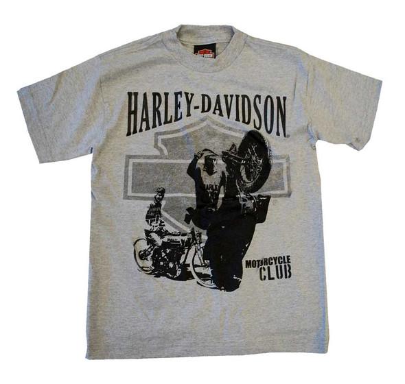 Harley-Davidson Big Boys' Motorcycle Motor Club Tee T-shirt Heather Grey 0294190 - Wisconsin Harley-Davidson