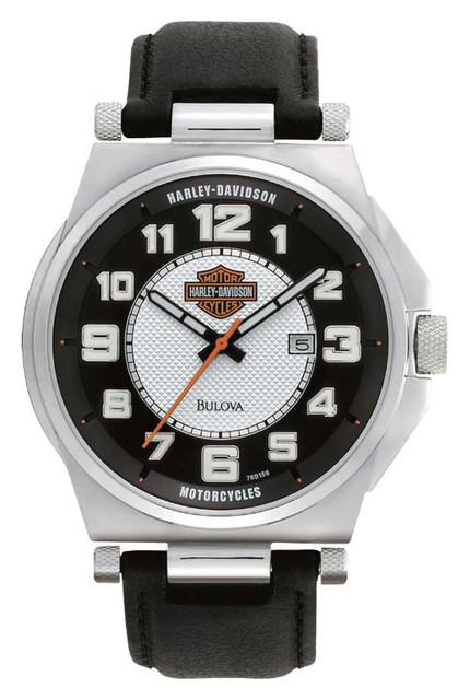 Harley-Davidson Men's Bulova Bar & Shield Wrist Watch 76B156 - Wisconsin Harley-Davidson