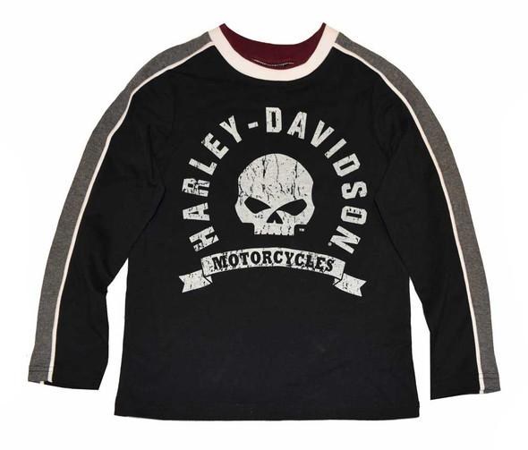 Harley-Davidson Big Boys' Shirt, Willie G. Skull Long Sleeve Jersey 4391578 - Wisconsin Harley-Davidson