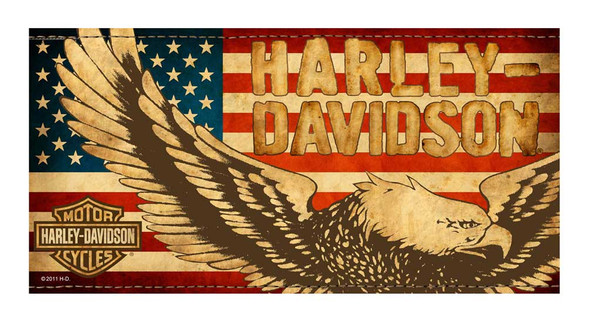Harley-Davidson Beach Towel, Vintage Patriotic Eagle Flag, 30 x 60 inch, 11671 - Wisconsin Harley-Davidson