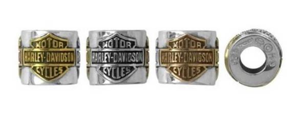 Harley-Davidson Women's Bar & Shield Multi-Gold Plating Ride Bead Charm HDD0031 - Wisconsin Harley-Davidson