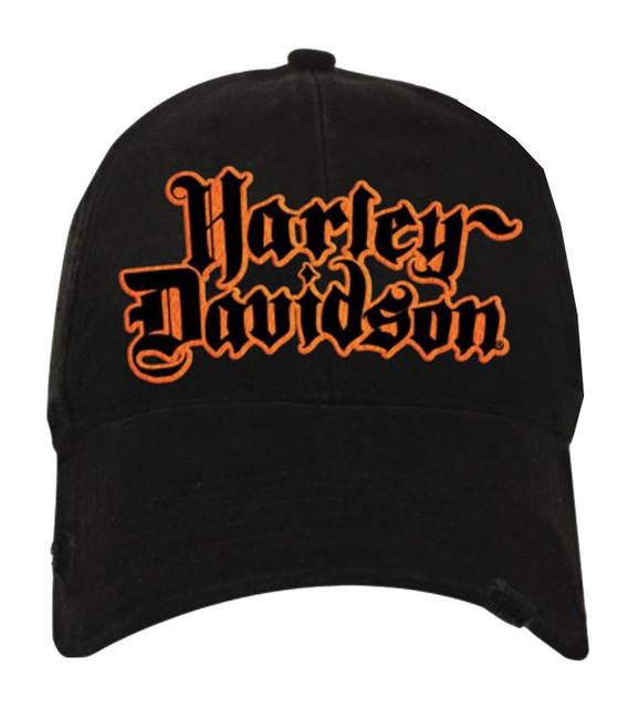 Harley-Davidson Men's Baseball Cap, Black Letter H-D Script Hat, Black BC127330 - Wisconsin Harley-Davidson