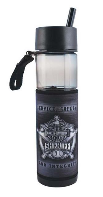 Harley-Davidson Sheriff Original Slim Sports Plastic Water Bottle SL126475 - Wisconsin Harley-Davidson