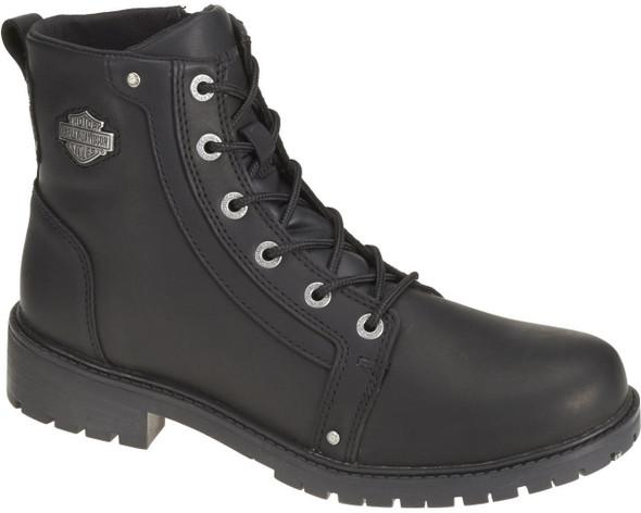 Harley-Davidson Men's Gerald Black or Smoke Grey Leather Boots. D93237 D93285 - Wisconsin Harley-Davidson