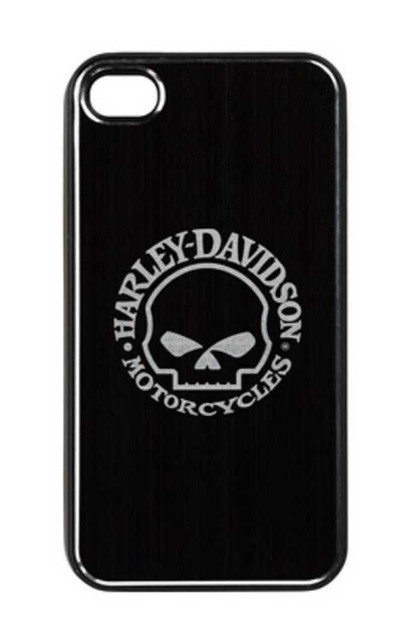 Harley-Davidson Aluminum iPhone 4/4s Shell Etched Willie G. Skull Black 07436 - Wisconsin Harley-Davidson
