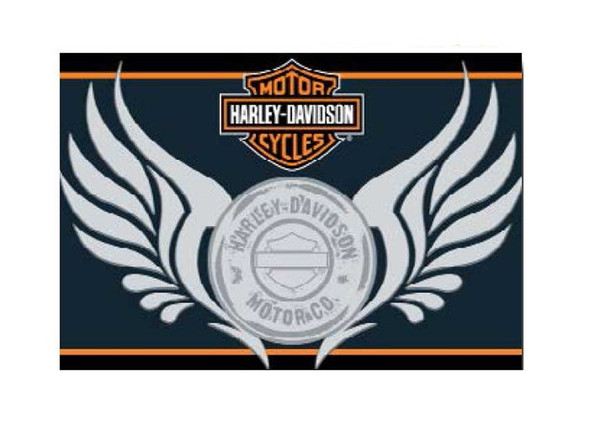 Harley-Davidson HD Motor Rug, Bar & Shield Wings 20 x 30 NW211346 - Wisconsin Harley-Davidson