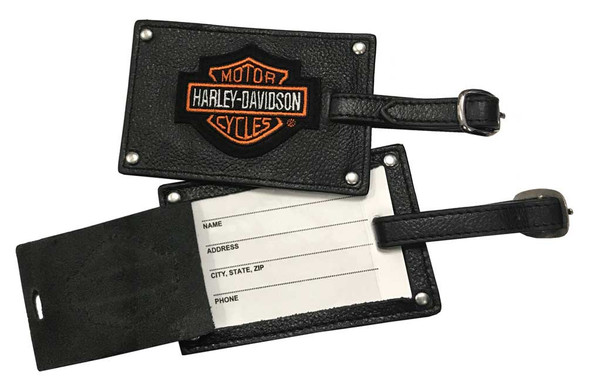 Harley-Davidson Bar & Shield Belted Luggage Tags Leather 99301 - Wisconsin Harley-Davidson