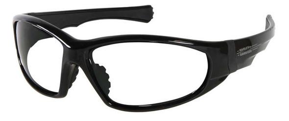 Harley-Davidson Men's Sun Lifestyle Black w/Clear Lens Sunglasses HDS608BLK-22 - Wisconsin Harley-Davidson