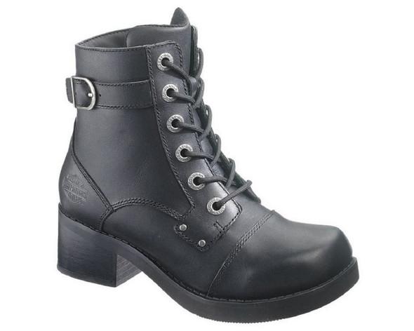 Harley-Davidson Women's Evie Black 5-Inch Motorcycle Boots. D83592 - Wisconsin Harley-Davidson