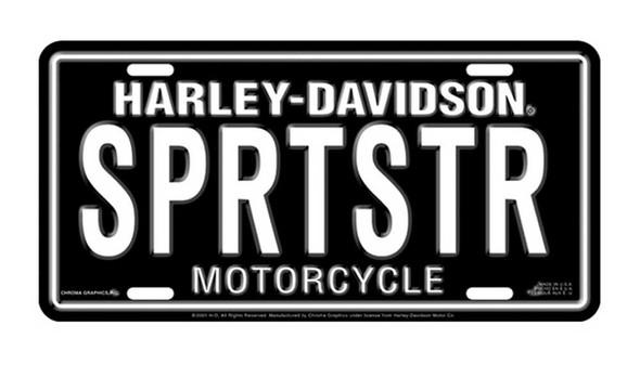 Harley-Davidson SPRTSTR Auto Tag Stamped Metal Licenses Plate CG1892 - Wisconsin Harley-Davidson