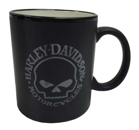 Harley-Davidson Willie G Skull Coffee Mug, Black w/ Silver Skull, HD-WGS-2207 - Wisconsin Harley-Davidson