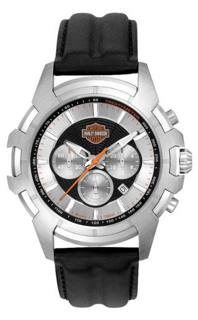 Harley-Davidson Men's Bulova Spider Web Wrist Watch 76B161 - Wisconsin Harley-Davidson