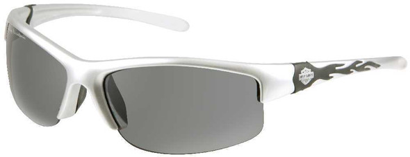 Harley-Davidson Men's Sun Semi-Rimless Silver w/ Grey Lens Sunglasses HDS580SI-3 - Wisconsin Harley-Davidson