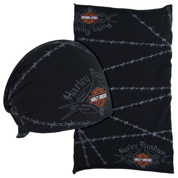 Harley-Davidson Barbed Wire Native Multifunctional Headwear Wrap. MHW69030 - Wisconsin Harley-Davidson