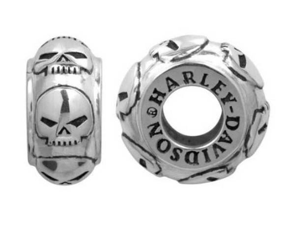 Harley-Davidson Repeating Willie G Skull Sterling Silver Ride Bead HDD0051 - Wisconsin Harley-Davidson
