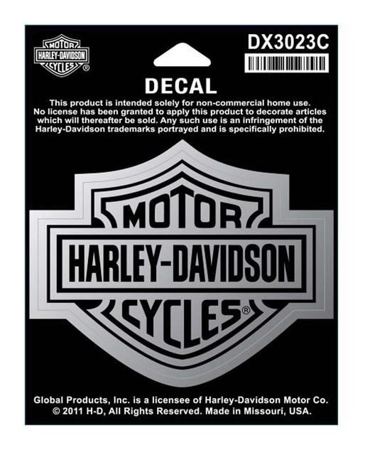 Harley-Davidson Bar & Shield Medium Size Chrome Decal DX3023C - Wisconsin Harley-Davidson