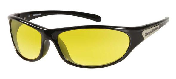 Harley-Davidson Men's Sun Lifestyle Black w/Yellow Lens Sunglasses HDS604BLK-15 - Wisconsin Harley-Davidson