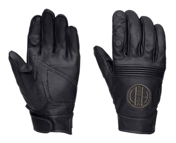 Harley-Davidson Men's Hypnotic Full-Finger Leather Gloves, Black 97320-16VM - Wisconsin Harley-Davidson