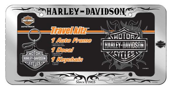 Harley-Davidson Bar & Shield Scroll Travel Kit: Frame, Decal & Keychain CG6036 - Wisconsin Harley-Davidson