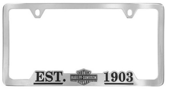 Harley-Davidson 1903 Vintage Bar & Shield License Plate Frame Chrome HDLFC98 - Wisconsin Harley-Davidson