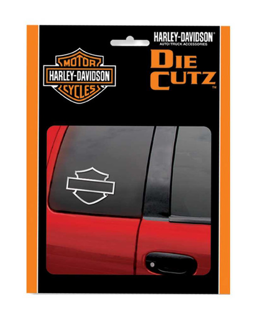 Harley-Davidson Bar & Shield Chrome Silhouette Die Cutz Window Decal CG3661 - Wisconsin Harley-Davidson