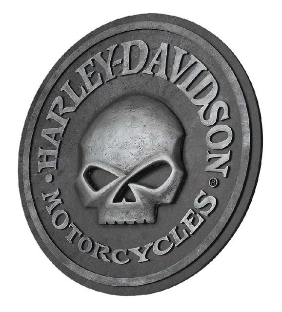 Harley-Davidson Willie G Skull Sculpted 3D Pub Sign, 18 in Diameter HDL-15311 - Wisconsin Harley-Davidson