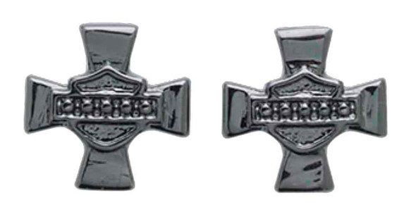 Harley-Davidson Women's Earrings, Cross Bar & Shield Stud Earrings 97782-16VW - Wisconsin Harley-Davidson