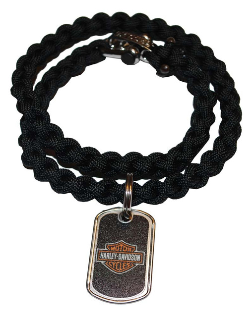 Harley-Davidson Survival Bar & Shield Necklace Steel Clasp 24'' 201106586 - Wisconsin Harley-Davidson