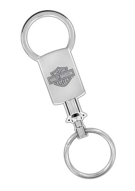 Harley-Davidson Engraved Bar & Shield Pull-A-Part Valet Key Chain Silver HDKPT14 - Wisconsin Harley-Davidson
