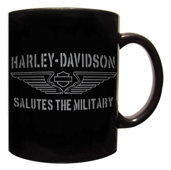 Harley-Davidson Coffee Mug, H-D Tribute Salutes The Military, Black CM127430 - Wisconsin Harley-Davidson