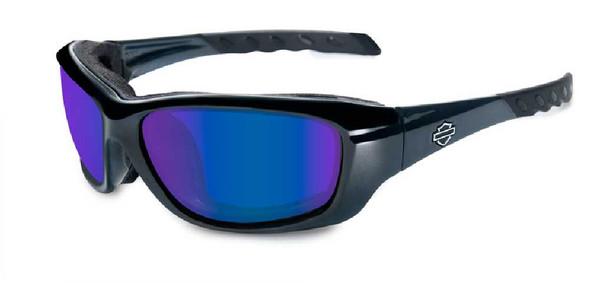 Harley-Davidson Gravity Pol Blue Lens w/ Black Crystal Frame Sunglasses HDGRA04 - Wisconsin Harley-Davidson