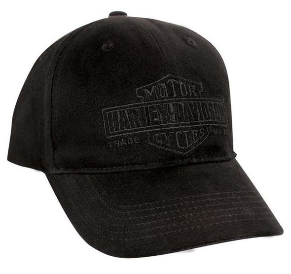 Harley-Davidson Long Bar & Shield Black Baseball Cap BC31230 - Wisconsin Harley-Davidson