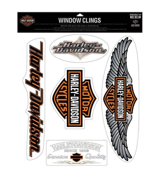 Harley-Davidson Genuine Wings Window Cling, 5 Logos Per Sheet DW096719 - Wisconsin Harley-Davidson