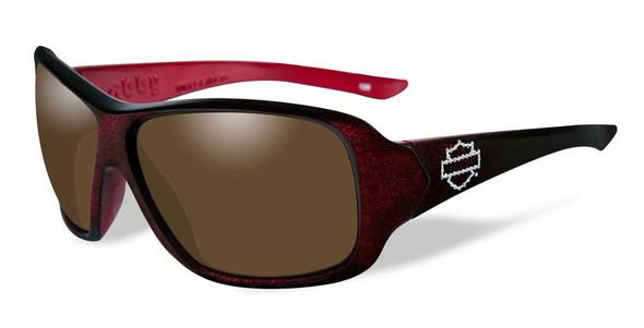 Harley-Davidson Womens Abby Sunglasses, Bronze Lens/Red Sun Glow Frame HDABB02 - Wisconsin Harley-Davidson