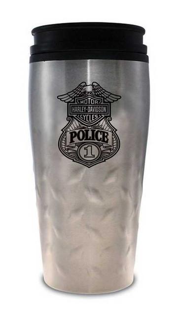 Harley-Davidson Police Original Travel Mug Stainless Steel 12 oz. MG126306 - Wisconsin Harley-Davidson