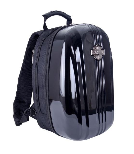 Harley-Davidson Athalon Molded Backpack Hard Black Shell 16x12x8 99917 - Wisconsin Harley-Davidson