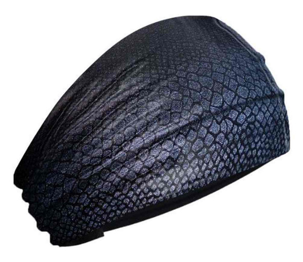 That's A Wrap Women's Anaconda Snake Scales Fabric Knotty Band Black KB2918 - Wisconsin Harley-Davidson