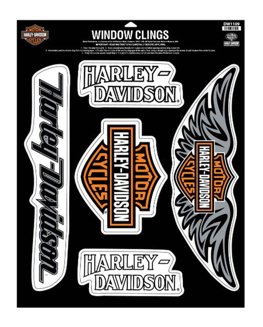 Harley-Davidson H-D Shout Out Window Cling Sheet, 12-1/4'' W x 16-1/4'' H DW1109 - Wisconsin Harley-Davidson