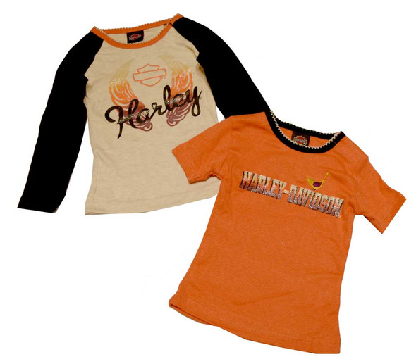 Harley-Davidson Baby Girls' T-Shirts, Infant Long & Short Sleeve T-Shirt 3312376 - Wisconsin Harley-Davidson