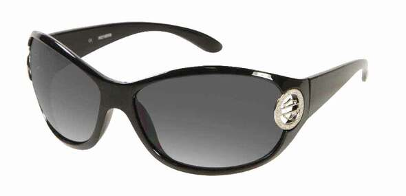 Harley-Davidson Women's Sunglasses Bling Bar & Shield Circle, Black HDS7000BLK-3 - Wisconsin Harley-Davidson
