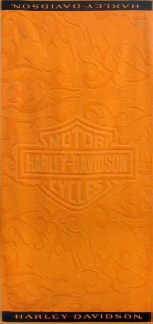 Harley-Davidson Sculpted Orange Flame Jacquard Beach Towel 11673 - Wisconsin Harley-Davidson