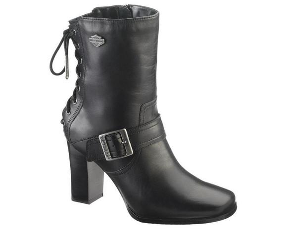 Harley-Davidson Women's Shanna 7-Inch Black or Brown High Heel Boots. D83678 - Wisconsin Harley-Davidson
