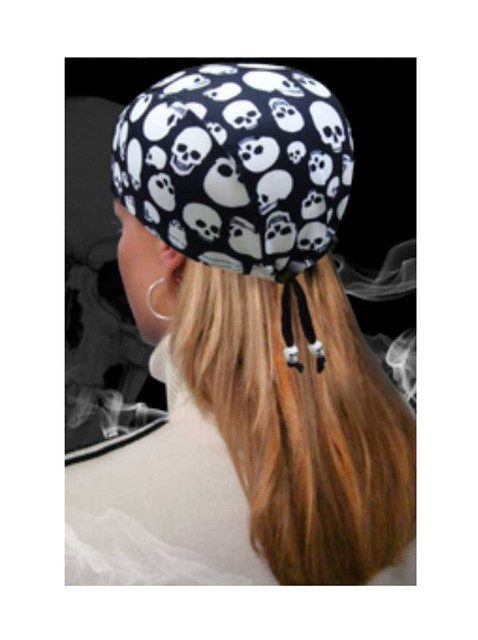That's A Wrap Unisex Repeated Skull Pattern Cordlock Cap, Black CLC-293 - Wisconsin Harley-Davidson