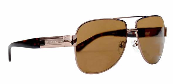 Harley-Davidson Mens Aviator Sunglasses, Script Silver/Brown Lens HDX821BRN-1 - Wisconsin Harley-Davidson