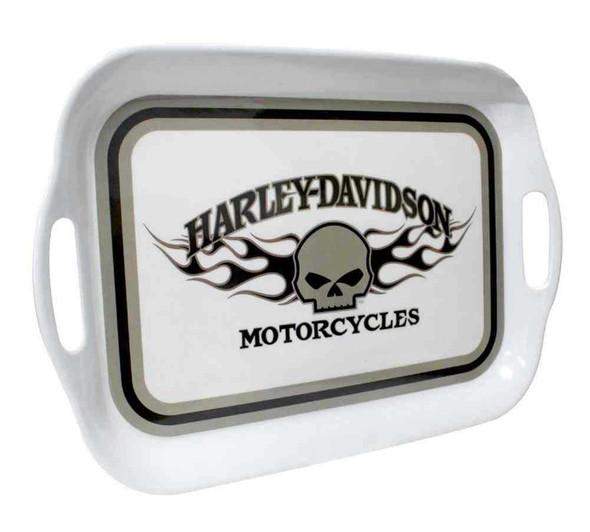 Harley-Davidson Flaming Willie G Skull Melamine Serving Tray, 16 inch HD-HD-912 - Wisconsin Harley-Davidson